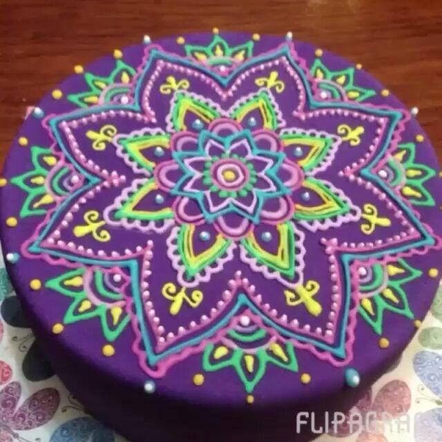 @Regrann from @pasteleriapucara - Nueva torta de #mandala realizada este fin de…