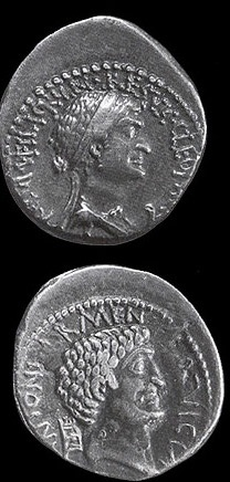 Egypt Picture - Coins of Cleopatra & Mark Antony