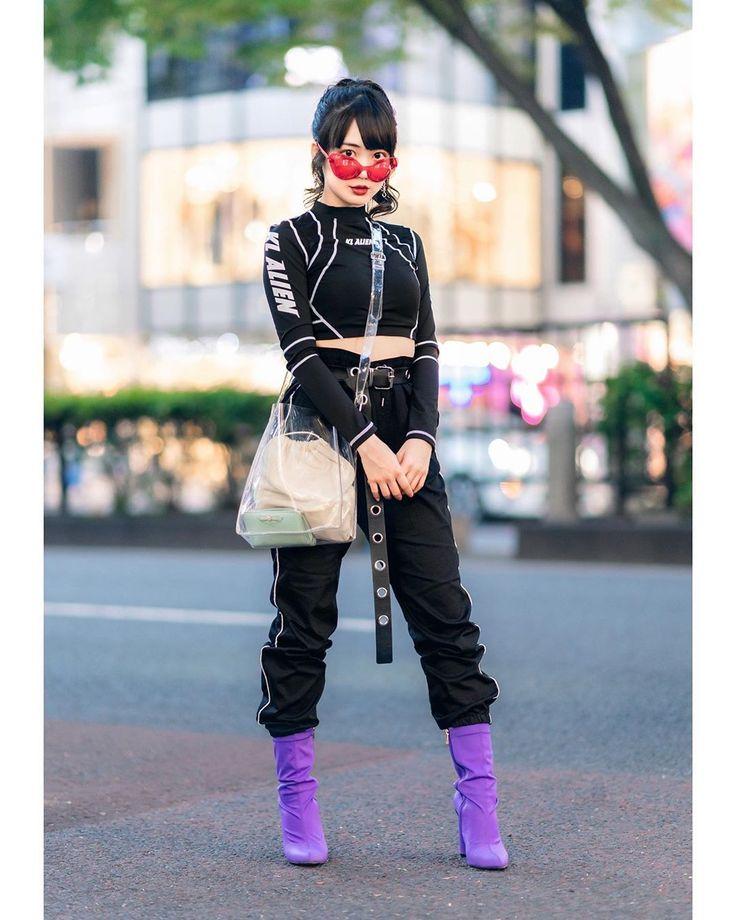 19-year-old aspiring Japanese idol Misuru (@meguharajuku) on the street in Haraj…