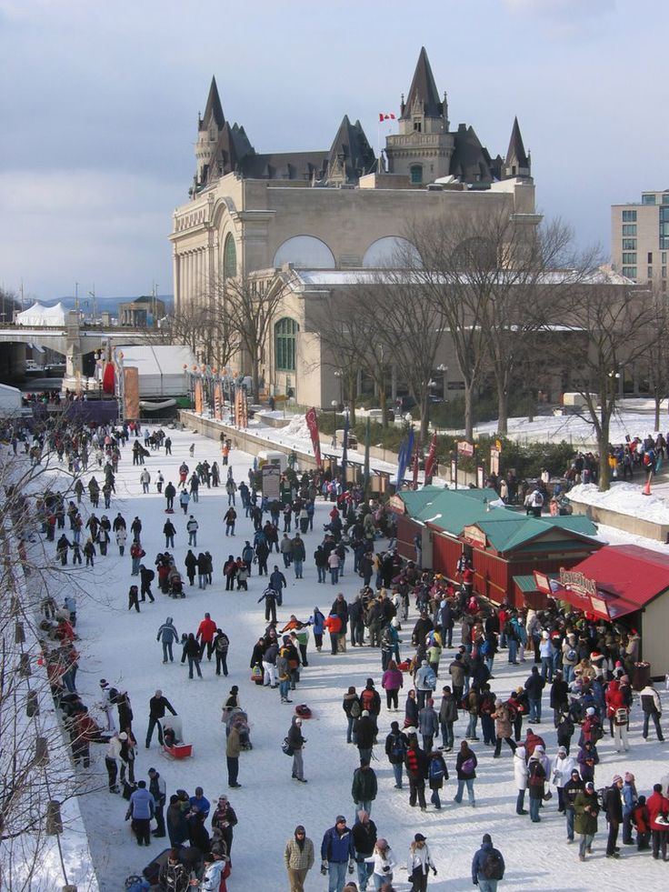 skating on the rideau canal - Ottowa Canada. I want to live here just to skate to work.