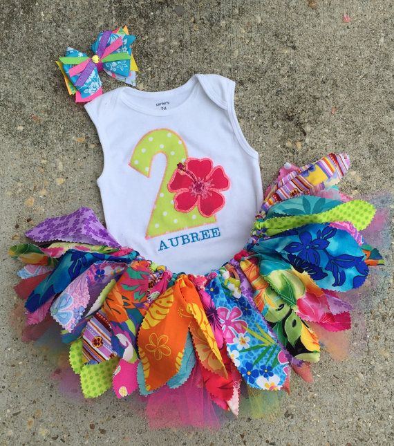 Luau outfit Hawaiian birthday Outfit personalized by LilNicks