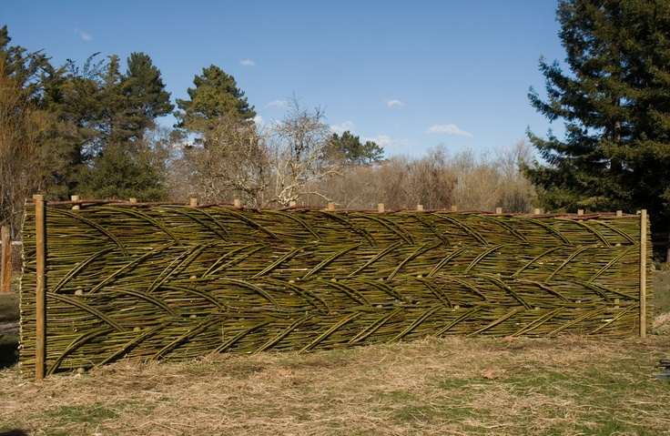 12 best images about woven fences on pinterest gardens bamboo furniture and portal - Green fencing ideas ...