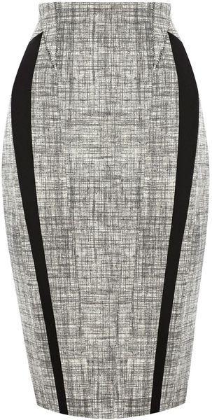 KAREN MILLEN ENGLAND Texture Pattern Ponte Skirt - Lyst