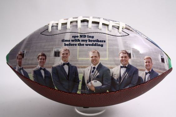 """Thank the guys that stood by your side on the day you say """"I do"""" with a personalized Make-A-Ball. #Groomsmen #Wedding #MakeABall #IDo #Picture #Photo #Custom #Customized #Personalized"""