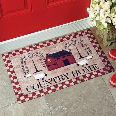 Primitive Country Home Door Mat