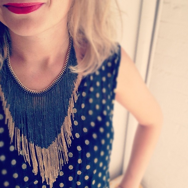 Love this fringe necklace #chloeandisabel