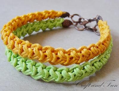 Tutorial - bracelet with Romanian point lace
