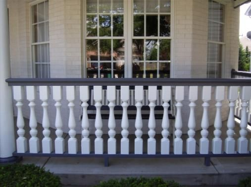 17 best images about porch replacement information on for Front balcony railing