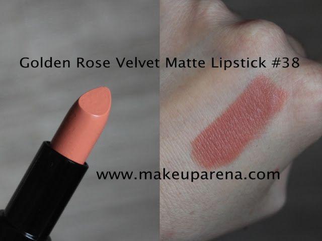 MAKEUP ARENA: Golden Rose Velvet Matte ruževi: nove nijanse 35-39