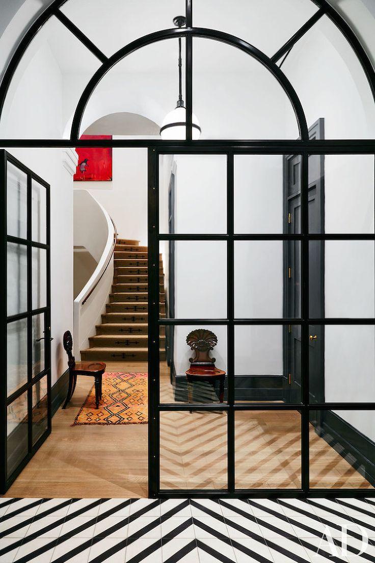 black steel frame - black and white tiles - manhattan loft