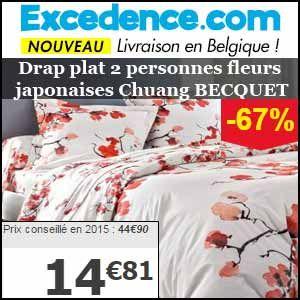 #missbonreduction; Remise de 67 % sur le Drap plat 2 personnes fleurs japonaises Chuang BECQUET chez Excedence.http://www.miss-bon-reduction.fr//details-bon-reduction-Excedence-i246-c1834789.html