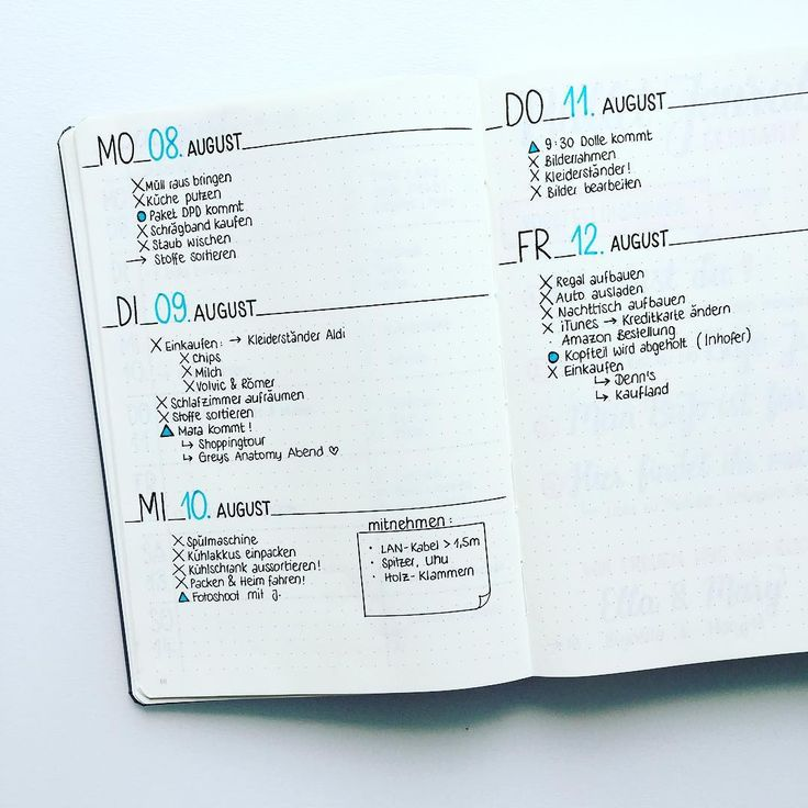 465 best Organisation images on Pinterest   Notebook, Bullet journal ...