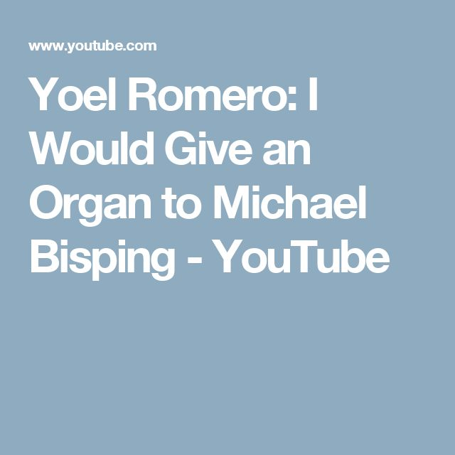 Yoel Romero: I Would Give an Organ to Michael Bisping - YouTube