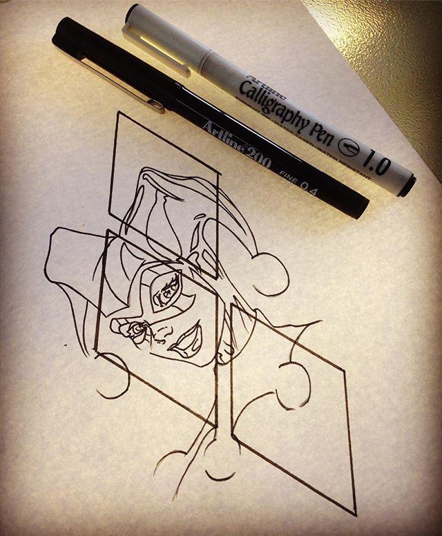 Classic Harley Quinn design up for grabs. #harleyquinn #harleyquinntattoo #comiccon #comic #comicbooks #comicbook #comicbooktattoo #dc #dccomics #dctattoo #design #stencil #art #joker #puddin #thejoker #harleenquinzel #tattoo #tattoos #suicidésquad #suicidesquad
