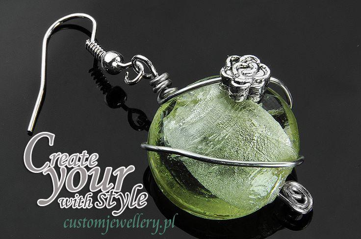 #Kolczyki ze szkła weneckiego i elementów metalowych. customjewellery.pl