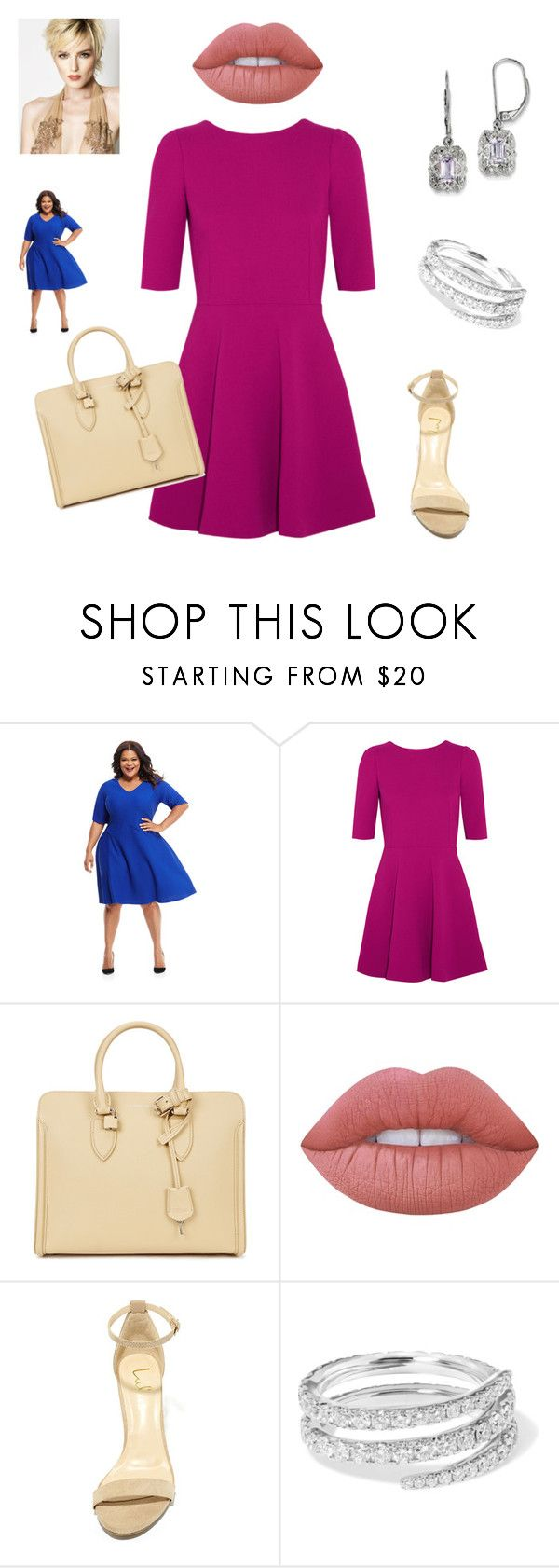 """""""Mujer 40 años Civil Dia."""" by jesica-cropanese on Polyvore featuring moda, Maggy London, Dolce&Gabbana, Alexander McQueen, Lime Crime, LULUS, Anita Ko, BillyTheTree y plus size dresses"""