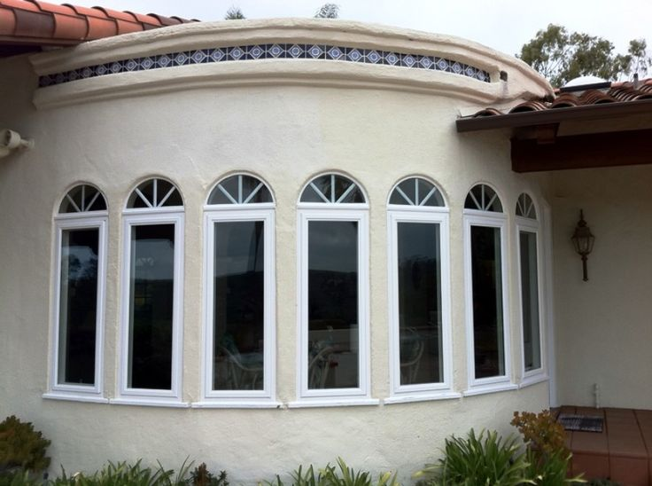 Arch Top Casement Vinyl Windows With High Performance Dual