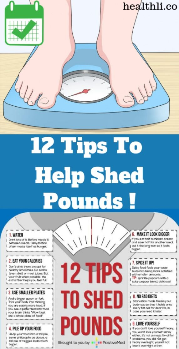 12 Tips To Help Shed Pounds – Weight Loss !