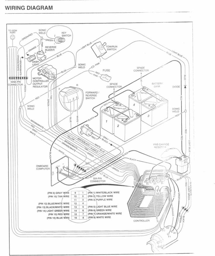 Club Car Ds Wiring Schematic Need 2005 Precedent Diagram Inside Gas To 91