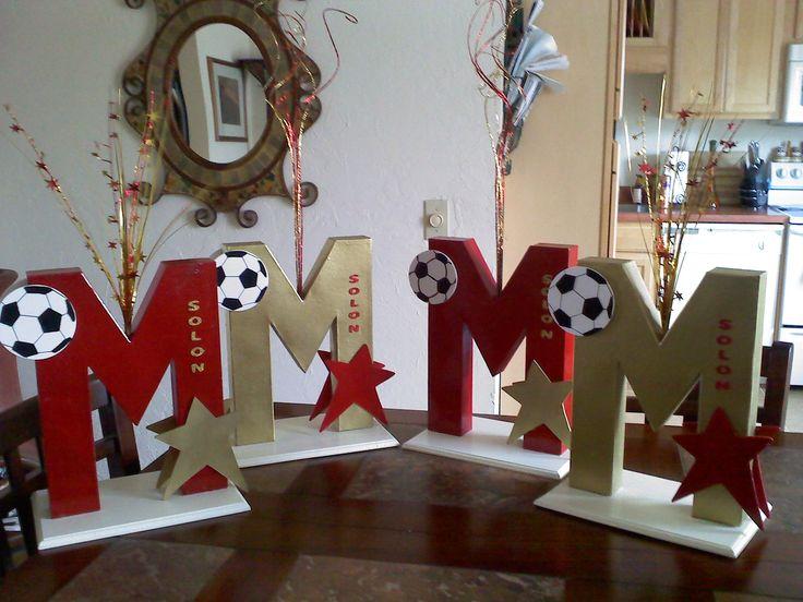 Batmitzvah Centerpieces for Megan a soccer player