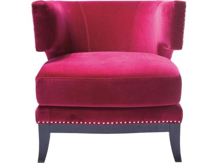 Fotel Art Deco różowy — Fotele Kare Design — sfmeble.pl