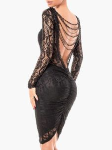 Black Backless Lace Party Dress. Get awesome discounts up to 70% Off at Milanoo using Coupon & Promo Codes.