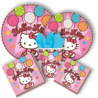 Cute and classic Hello Kitty party supplies from www.DiscountPartySupplies.com