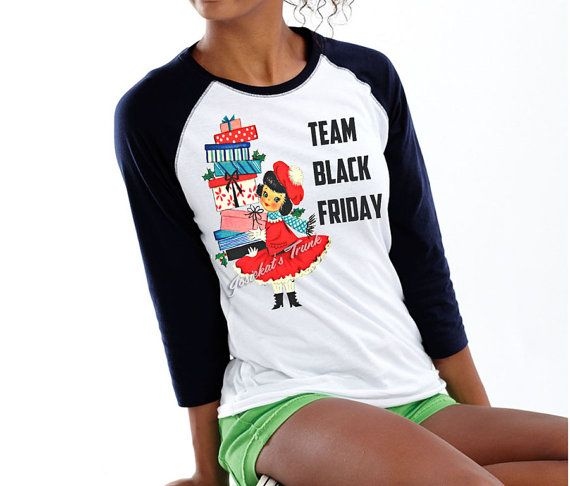 Black Friday Women Shirt Team Black Friday by josiekatstrunk, $26.00