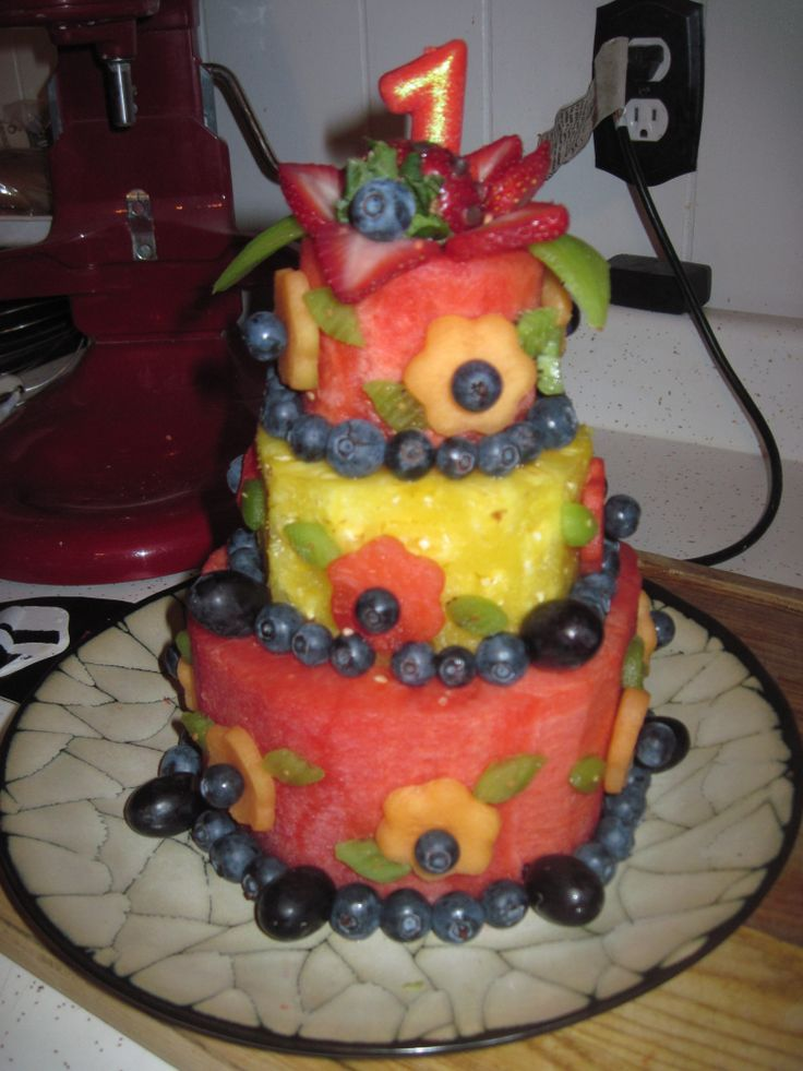 all fruit birthday cake - photo #39