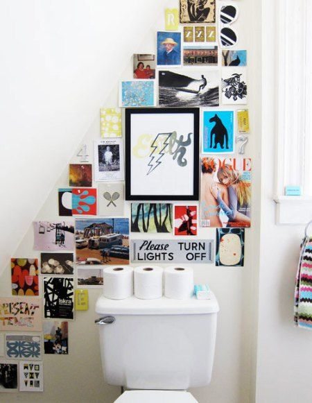 Make use of small spaces - looks great and would make the loo look so quirky