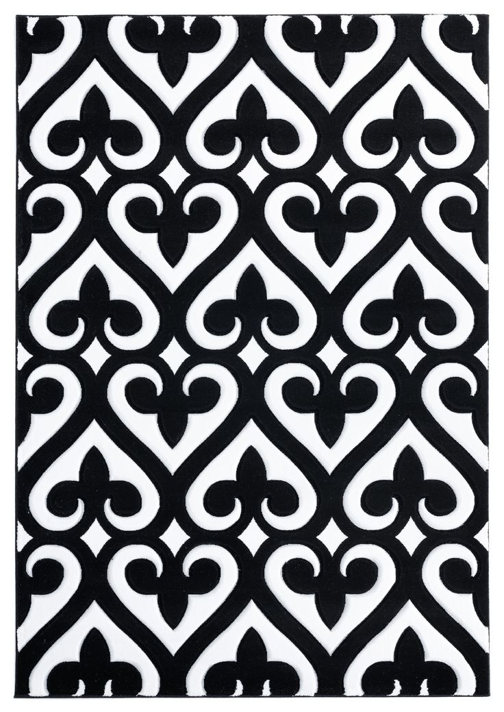 United Weavers Of America Bristol Heartland Black Area Rug Black Area Rugs Motif Design Lasercut Design