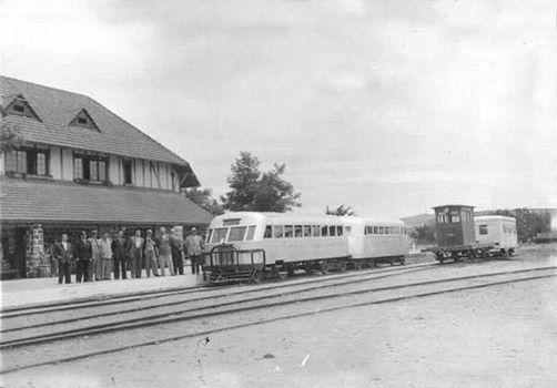 Vista de la Estación de Trenes de Quintero en el año 1950 - Chile