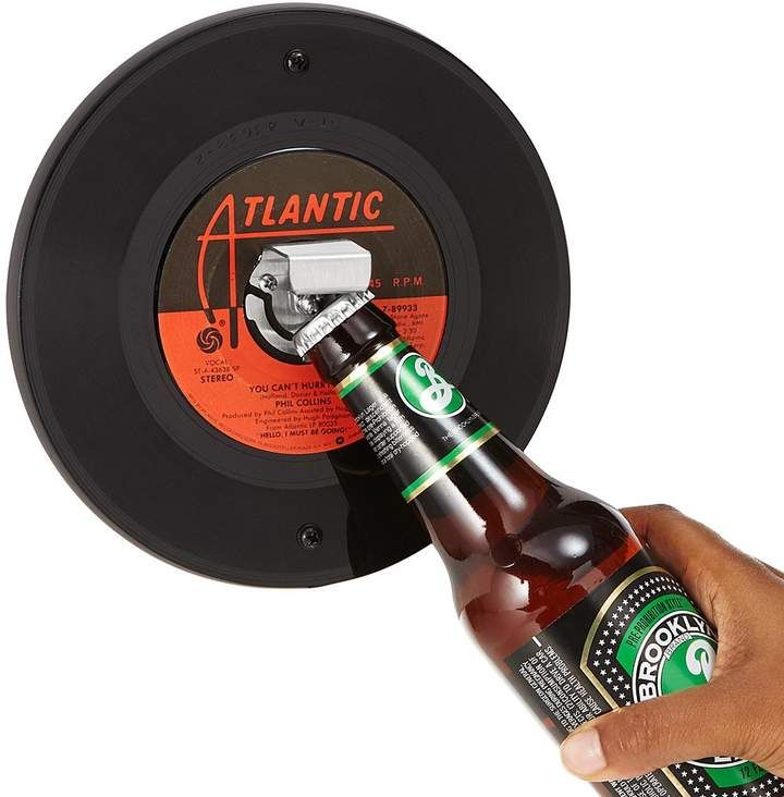 Vintage Record Bottle Opener Wall Mounted Beer Opener Made From A Real Vintage Vinyl Record In Your Choi Beer Opener Beer Bottle Opener Beer Opener Wall Mount