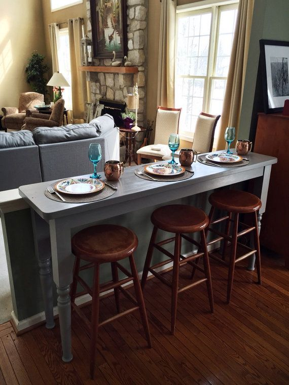 For Serving Bar Table Available 600 Through Etsy Made With Love In Philadelphia Rustic Grey Wood Bartable Home Room Living