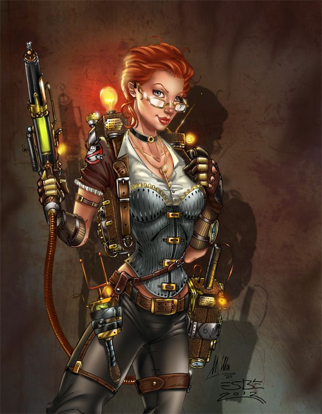 Fan Art: Steampunk Janine | GhostbustersNews.com - Ghostbusters news, media, and fan creations!