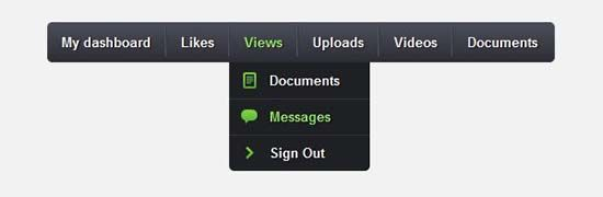 25 Free Dropdown Menus in HTML5 and CSS3