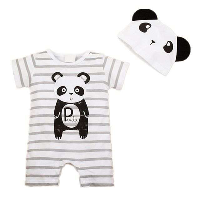 Newborn Rompers Summer Style Baby Girls boys Clothes  Animal Cartoon Infant Jumpsuits  Clothing Set