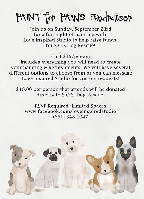 Paint for Paws Fundraiser — SOS Dog Rescue | Event Ideas | Foster
