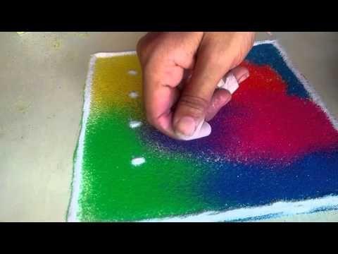 easy rangoli designs - YouTube