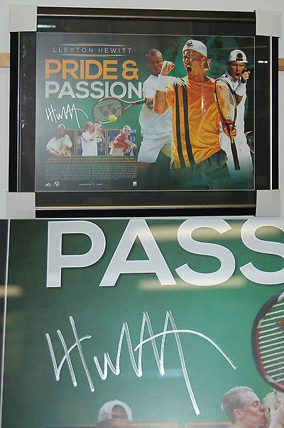 Tennis 430: Lleyton Hewitt Hand Signed And Framed Limited Edition Pride And Passion Lithograph -> BUY IT NOW ONLY: $495 on eBay!