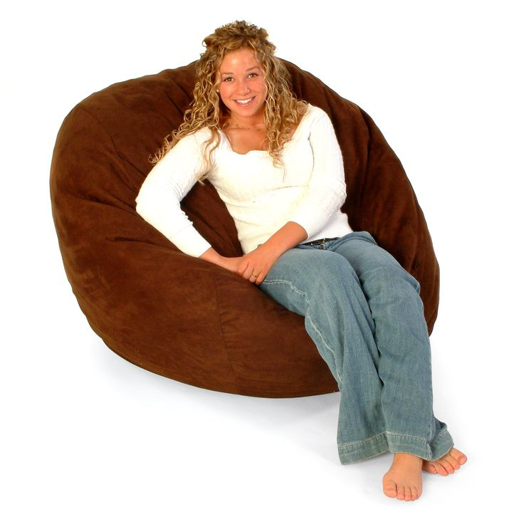 FUF 4 Ft Lounger Bean Bag Chair