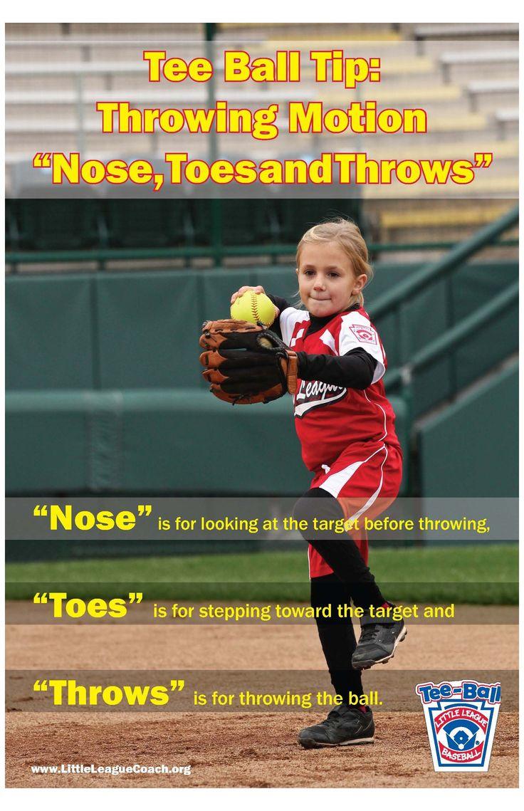 tee ball Tee Ball Tip in 2020 Kids softball, Softball