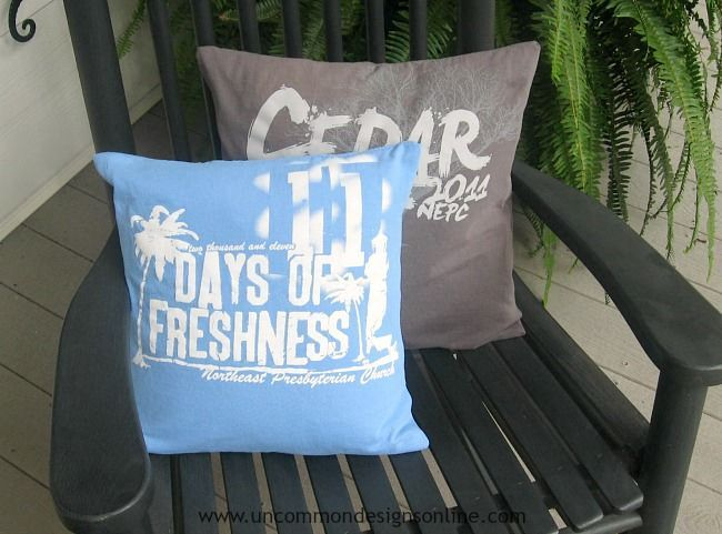 Image result for tee shirt throw pillow |DIY Up-Cycle Ideas from Old Tee Shirts | How To Refashion Old Shirts