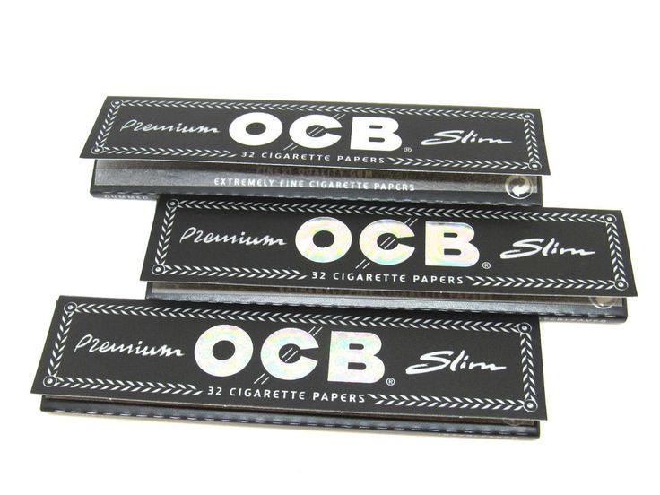 OCB Rolling Papers Premium Slim- 3 Packs - Finest Quality- 32 Papers EA - USA