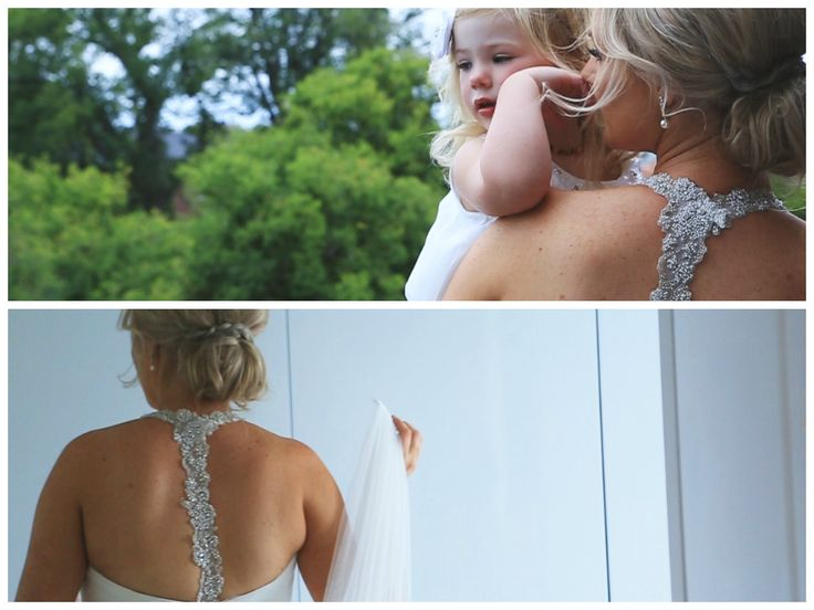 Aimee's wedding dress from the back! LOVE it!