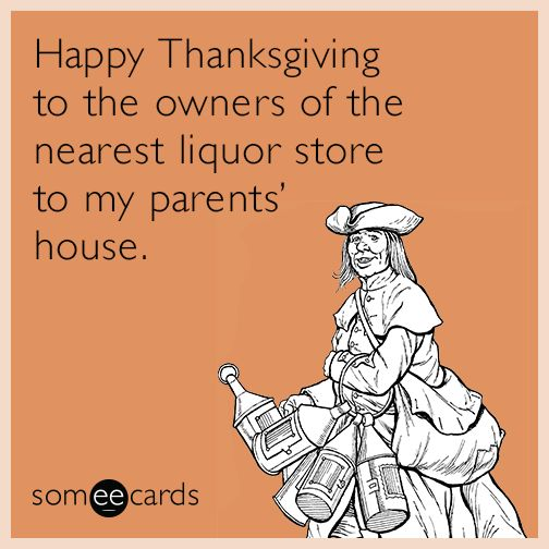 Happy Thanksgiving to the owners of the nearest liquor store to my parents house.   Thanksgiving Ecard