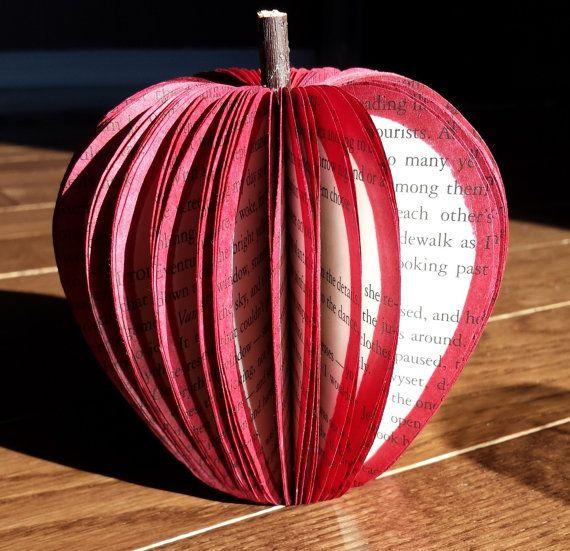 Twilight Saga Book Apple by createdbykmah on Etsy