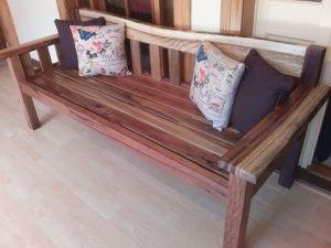 Camphor bench seat. Illusive Wood Designs  $500.00