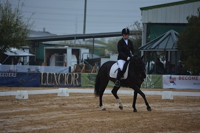 Fiona DC and Lauren Maloney, the rain could stop these two  Working Equitation