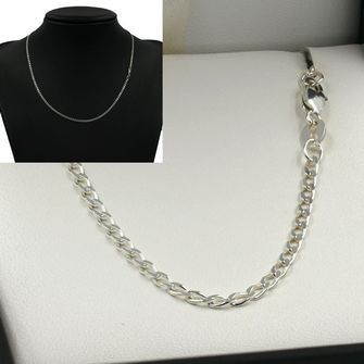 50cm Sterling Silver Long Curb Chain Necklace - SN-LCD60